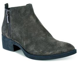 Nib Nuovo Donna Kenneth Cole Levon Grigio Asfalto Pelle/Caviglia Camoscio Boots
