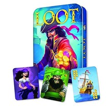 Gamewright Loot Deluxe Tin - The Plundering Pirate Card Game Card Game - $23.86
