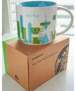 "Starbucks Seattle Wa Ciudad Taza ""You Are Here cm Yah Colección 414ml 2013 - $29.54"