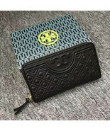 Tory Burch Black Fleming Zip Continental Wallet - $176.00