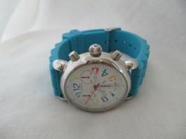 Geneva Blue & Silver Toned Wristwatch w/ Adjustable Buckle Band - $29.00