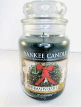 Yankee Candle CHRISTMAS WREATH 22 oz Large Jar Candle - $29.69