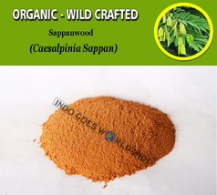 POWDER Sappanwood Indian Redwood Secang Caesalpinia Sappan Organic Wild ... - $7.85+