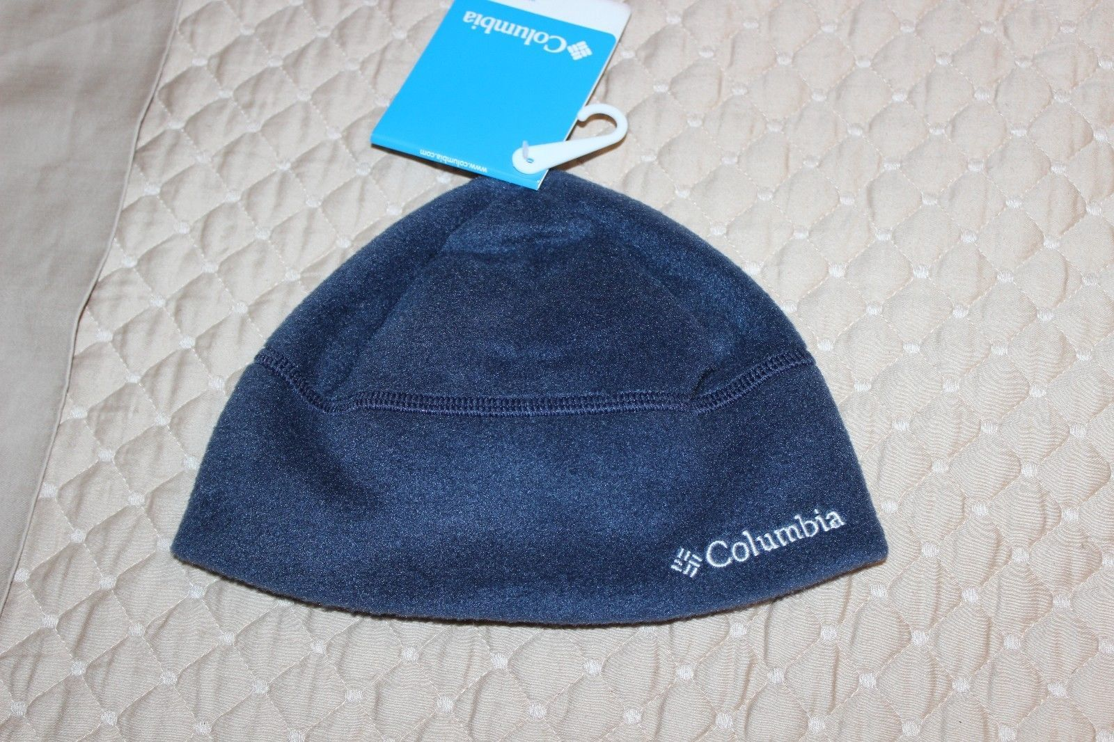 Columbia Youth Navy Blue Fleece Hat Size S/M Enchanted Forest Hat NWT