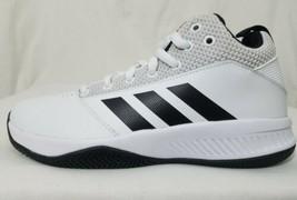 Adidas Ilation 2.0 Cloudfoam Basketball Shoes Size 6.5 Mens White Leathe... - $46.52