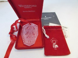 WATERFORD CRYSTAL 12 DAYS OF CHRISTMAS FOUR CALLING BIRDS ORNAMENT 1987 MIB - $14.80