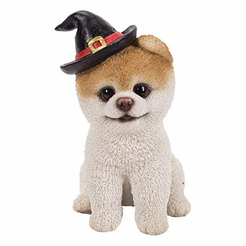 Pacific Giftware PT Short Hair Boo Dog with Halloween Hat Home Decorative Resin  - $24.74