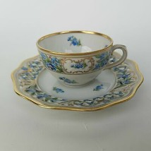 China Forget Me Not Cup And Saucer Bavaria Schumann Chalet Blue Flowers ... - $64.79