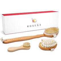 Dry Brushing Body Brush Set - Best for Cellulite, Lymphatic Drainage & Skin Exfo image 4