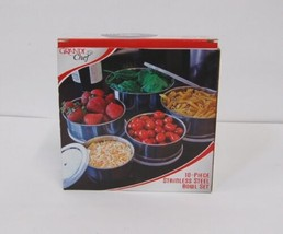 Grande Chef MB725 Stainless Steel Bowl Set 10 Piece Compact Storage image 1
