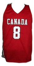 Andrew Wiggins #8 Team Canada Basketball Jersey Sewn Red Any Size image 1