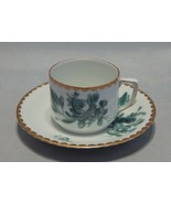 1920's Ludwigsburg Porcelain Demitasse Cup and Saucer Set Green Painted ... - $23.76