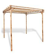 Outdoor Pergola Wood Canopy Durable Natural Bamboo Frame 6,5'x 6,5' Sun ... - $237.59