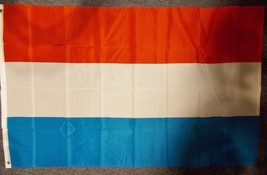 "LUXEMBOURG 3X5' FLAG NEW 3'X5' 3 X 5 FEET 36X60"" BIG - $9.85"