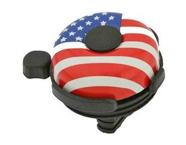 PREMIUM STEEL 57mm Long Bolt On BIG AMERICAN FLAG BICYCLE BELL. - $6.78