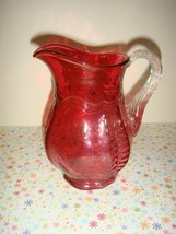 Fenton Glass Cranberry Pitcher - $9.99