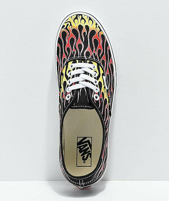 Vans Men's Authentic Mash Up Flame Skate Shoes, NWB, Size 10 image 2