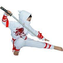 Ninja Children's Costumes 7-9Y White image 3