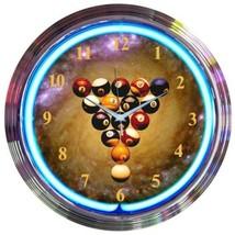 "Billiards Spaceballs ManCave Neon Clock 15""x15"" - $59.00"