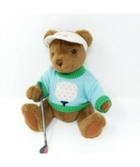 Gund Golf Teddy Jointed Brown Bear Plush Bogey EUC - $11.26
