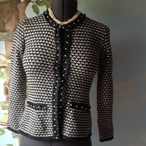 JM Collection Long Sleeve Knit Sweater Cardigan Top Size Small Petite  - $28.71