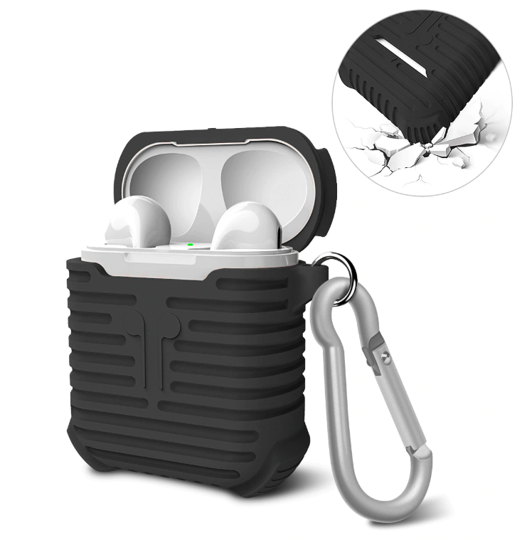 Soft Silicone Shock Proof Protective Cover Case For Apple AirPods Earphones