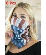 6 Pcs Lot Multifunctional Bandana Scarf Facemask USA Flag Printed Limite... - $49.49