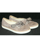 Ugg Australia Carilyn Stormy Grey Slip On Lace Up Ribbon Sneaker Shoes Size 7.5 - $34.60