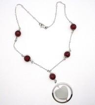 Halskette Silber 925, Karneol Facettiert, Herz Gekippt Anhänger image 2