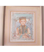 1980's Vintage & Rare Edna Hibel Color Lithographic Collectible Oriental... - $599.99
