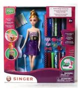 NEW SEALED Singer Fashion Design 35 Pc Doll + Activity Set w/ 2 dress pa... - $34.64