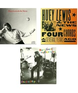 Lot of 3 CDs Huey Lewis And The News - No Cases - $1.99