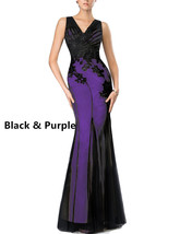 Women's Long Sexy V Neck Mermaid Evening Dress Rustic Bodycon Formal Party Gowns - $108.99