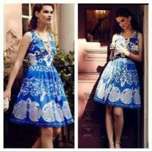 Anthropologie Azure Lace Dress Plenty by Tracy Reese Sz 0P image 1