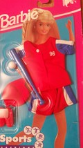BARBIE BASEBALL RED WHITE & BLUE OUTFIT VINTAGE 1995 BRAND NEW UNOPEN Ma... - $19.99