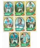 1970 Topps Miami Dolphins Team Set with Bob Griese, Larry Csonka, Warfield - $24.50