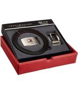 Tommy Hilfiger Men's Set Reversible Leather Belt Removable Buckle 11TL08... - $32.65