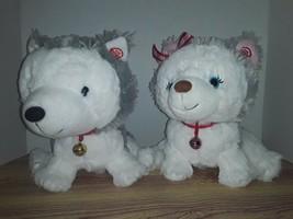 Hallmark Exl. HUSKY DOGS Interactive Story Buddies 1&2 Talking Plush NO ... - $29.99