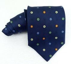 Neck tie blue & flowers wide Enrico Coveri silk Made in Italy wedding bu... - $23.50