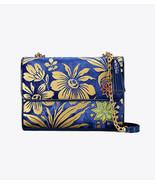 Tory Burch Fleming Cosmic Small Blue Gold Velvet Tassel Convertible Shou... - $205.00