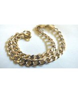 """925 Sterling Silver Italy Curb Chain Link Bracelet 8.25""""L - $54.45"""