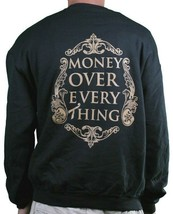 T.I.T.S. Two in The Shirt M.O.E.T Money Over Everything Black Gold Sweatshirt L image 2