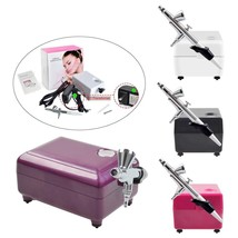 Airbrush Compressor Kit Portable 3 Speeds Tattoo Make Up Nail And Cake P... - $45.99