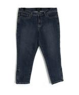 Nine West Women Jeans Size 12 Medium Wash Zipper Ankle Flap Pockets Crop... - $19.24