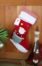 POTTERY BARN QUILTED SANTA STOCKING –NWT– HOLIDAY JOY IS IN THE BAG! - $24.97
