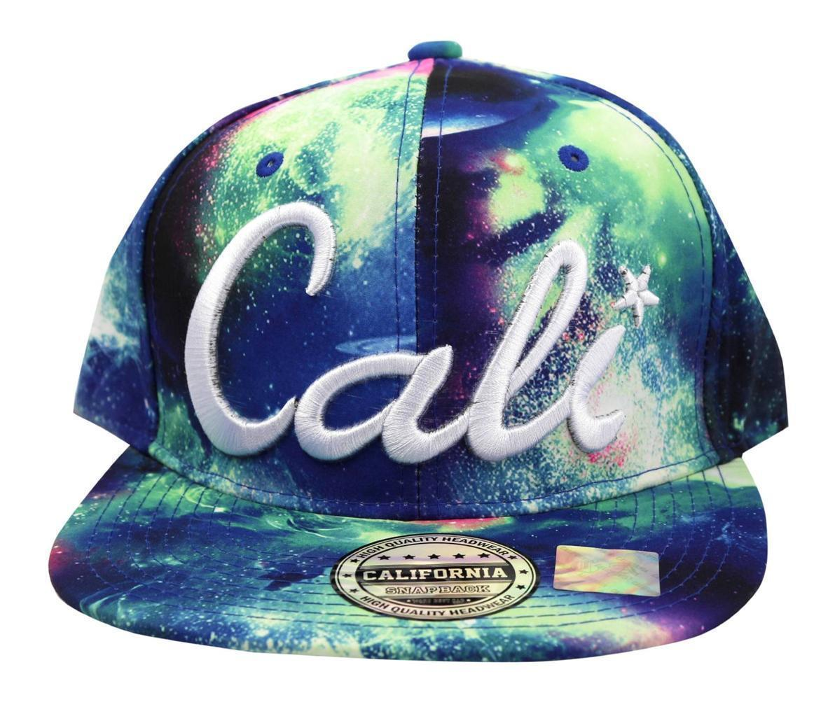 NEW UNISEX BASEBALL HAT CAP ADJUSTABLE SNAPBACK SWAG CALI SPACE BLUE ONE SIZE