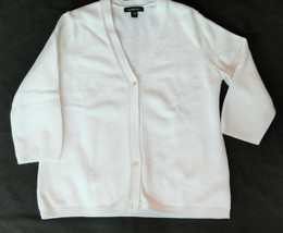 Lands End Womens Cardigan Sweater Size Small 6-8 Acrylic Nylon 3/4 Length Sleeve - $16.92