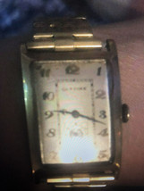 GLYCINE Lovely 14k Gold Vintage Wrist Watch circa 1930s - $700.00