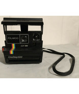 Vtg Polaroid One Step 600 Land Camera Instant Film Rainbow Stripe Carryi... - $19.24
