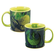 Star Wars Yoda with Lightsaber Heat Reactive 20 oz Ceramic Mug, NEW UNUSED - $11.62